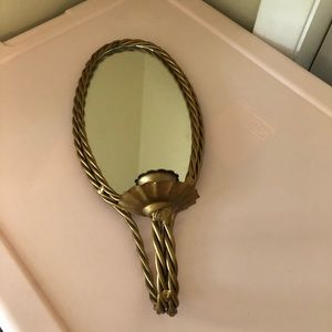 Vintage Candle Mirror Holder